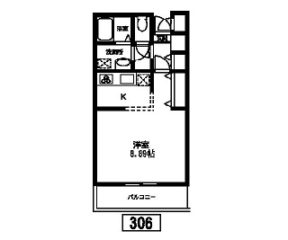 【入居者募集】Eco Station House[306]の間取り